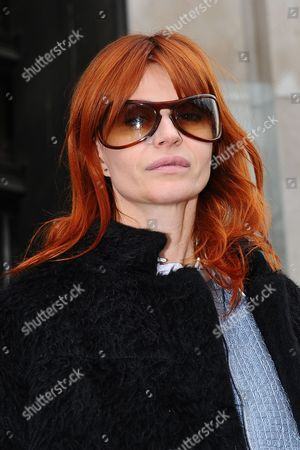 Belgian singer Axelle Red leaves the Belgian fashion designer Veronique Leroy's Ready to Wear Fall-Winter 2013-2014 fashion collection presentation, in Paris