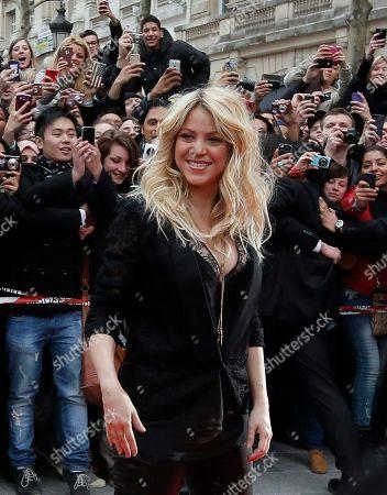 Editorial image of People-Shakira, Paris, France