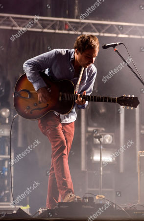 Daniel Rossen, guitar player of American rock band Grizzly Bear, performs during the Optimus Primavera Sound music festival in Porto, Portugal