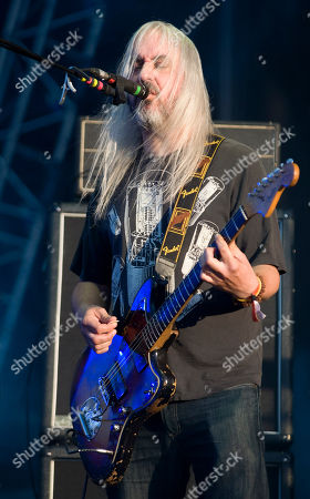 J Mascis, lead singer of American rock band Dinosaur Jr., performs during the Optimus Primavera Sound music festival in Porto, Portugal