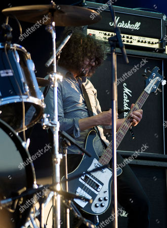 Stock Photo of Lou Barlow, bass player of American rock band Dinosaur Jr., performs during the Optimus Primavera Sound music festival in Porto, Portugal