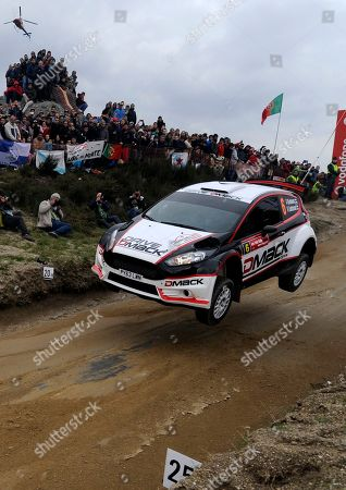 Driver Jari Ketomaa, from Finland, steers his Ford Fiesta RS during the WRC Fafe Rally Sprint in Lameirinha, Fafe, northern Portugal. The Portugal FIA World Rally Championship will begin next April 3, in southern Portugal
