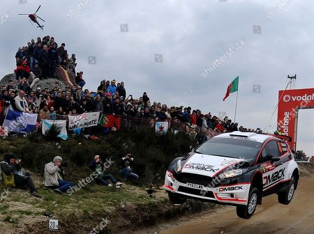 Jari Ketomaa Driver Jari Ketomaa, from Finland, steers his Ford Fiesta RS during the WRC Fafe Rally Sprint in Lameirinha, Fafe, northern Portugal. The Portugal FIA World Rally Championship will begin next April 3, in southern Portugal