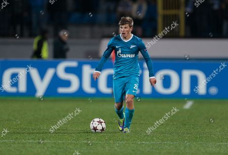 Andrey Arshavin Zenit's Andrey Arshavin controls the ball during the Champions League group G soccer match between Zenit and Porto at Petrovsky stadium in St.Petersburg, Russia, on