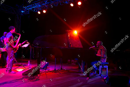 Ray Lema, right, performs with his jazz quartet during the annual Jazz Festival in Saint-Louis, Senegal. The 21st edition of the annual festival in Saint Louis, once the capital of colonial French West Africa, included musicians from Africa, Europe, and the U.S