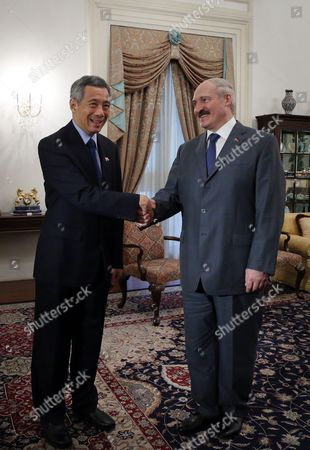 Aleksandr Lukashenko, Lee Hsien Loong President of Belarus Aleksandr Lukashenko, right, meets with Singapore's Prime Minister Lee Hsien Loong, at the Istana or Presidntial Palace during his official state visit on in Singapore
