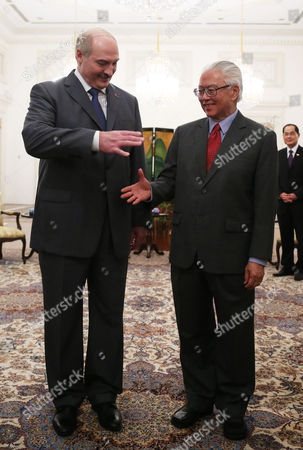 Aleksandr Lukashenko, Tony Tan President of Belarus Aleksandr Lukashenko, left, shakes hands with Singapore's President Tony Tan, right, at the Istana or Presidntial Palace during his official state visit on in Singapore