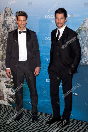 Aitor Ocio, David Gandy Spanish retired footballer Aitor Ocio and British model David Gandy poses during the photocall of Mediterranean Summer Cocktail hosted by Dolce & Gabbana in Madrid, Spain