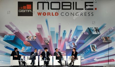 Vittorio Colao, Cesar Alierta, Xi Guohua, Randall Stephenson, Anne Bouverot From left, Vittorio Colao, chief executive officer of Vodafone Group, Cesar Alierta, chief executive officer of Telefonica, Xi Guohua, chairman of China Mobile, Randall Stephenson, chairman, president and chief executive officer of AT&T, and Anne Bouverot, director general of GSMA attend a conference at the Mobile World Congress, the world's largest mobile phone trade show, in Barcelona, Spain