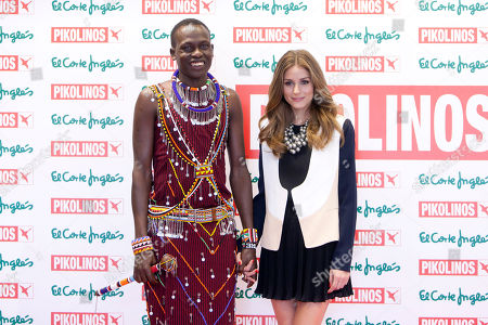 Olivia Palermo and William Kikanae Masai leader William Kikanae and actress and model Olivia Palermo poses to present the new 'Pikolinos' Maasai collection at the Corte Ingles Castellana store in Madrid, Spain