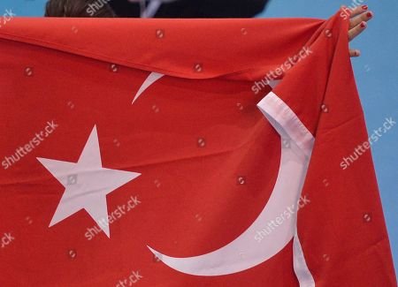 Nevin Yanit Turkey's Nevin Yanit pose with the national flag after winning the women's 60m hurdles final, during the Athletics European Championships in Gothenburg, Sweden