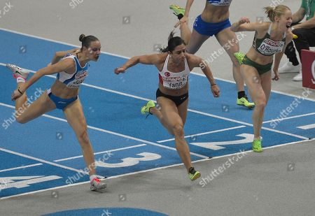 Derval O'Rourke, Veronica Borsi, Nevin Yanit Turkey's Nevin Yanit, center, finishes to win the women's 60m hurdles final, during the Athletics European Championships in Gothenburg, Sweden, . Italy's Veronica Borsi is at left, and Ireland's Derval O'Rourke is at right
