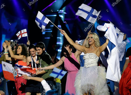 Krista Siegfrids Krista Siegfrids, right, of Finland celebrates with other contestants making it though to the final after the vote counting following the second semifinal of the Eurovision Song Contest at the Malmo Arena in Malmo, Sweden, . The final of the contest run by European television broadcasters will be held May 18