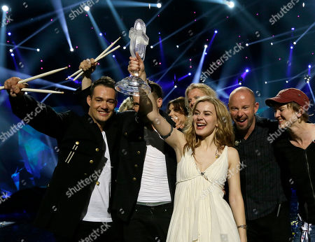 Emmelie de Forest Winner of the 2013 Eurovision Song Contest Emmelie de Forest of Denmark who sang Only Teardrops, celebrates with the trophy after the final at the Malmo Arena in Malmo, Sweden, . The contest is run by European television broadcasters with the event being held in Sweden as they won the competition in 2012