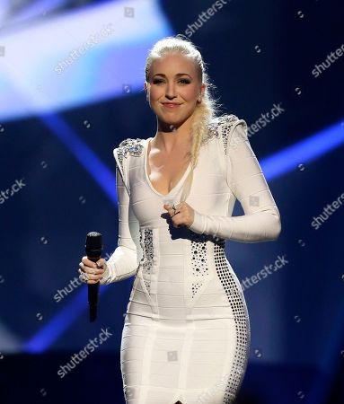 Stock Picture of Margaret Berger of Norway performs her song I Feed You My Love during the final of the Eurovision Song Contest at the Malmo Arena in Malmo, Sweden, . The contest is run by European television broadcasters with the event being held in Sweden as they won the competition in 2012