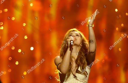 Emmelie de Forest Emmelie de Forest of Denmark performs her song Only Teardrops during the final of the Eurovision Song Contest at the Malmo Arena in Malmo, Sweden, . The contest is run by European television broadcasters with the event being held in Sweden as they won the competition in 2012