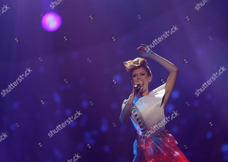 Aliona Moon of Moldova performs her song O Mie (A Million) during the final of the Eurovision Song Contest at the Malmo Arena in Malmo, Sweden, . The contest is run by European television broadcasters with the event being held in Sweden as they won the competition in 2012