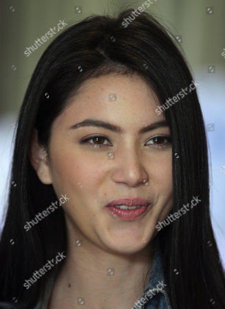 "Stock Photo of Davika Hoorne Davika Hoorne, the leading actress in the movie ""Pee Mak Phra Khanong,"" speaks during an interview in Bangkok, Thailand. The movie, directed by Banjong Pisanthanakun, has broken box office records and became an all-time highest-grossing film in the country's history, collecting more than 560 million baht ($18.8 million) in Bangkok and major cities"