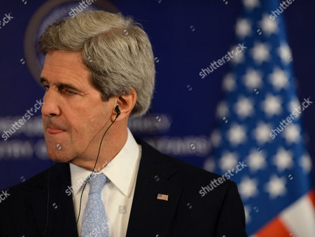 """John Kerry U.S. Secretary of State John Kerry listens to a question as he speaks to the media with Turkish Foreign Minister Ahmet Davutoglu and Syrian opposition leader Moaz al-Khatib, after a """"Friends of Syria"""" group meeting at the Adile Sultan Palace early, in Istanbul, Turkey. The United States said Sunday that it will double its non-lethal assistance to Syria's opposition as the rebels' top supporters vowed to enhance and expand their backing of the two-year battle to oust President Bashar Assad's regime"""