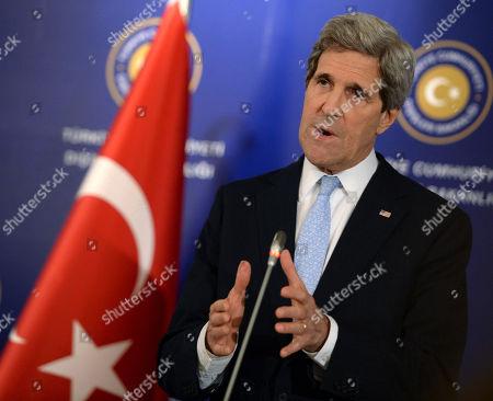 Editorial image of Turkey US Syria Kerry, Istanbul, Turkey