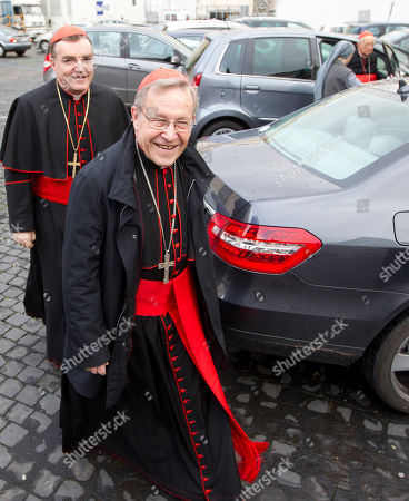 German Cardinal Walter Kasper, foreground arrives for a meeting at the Vatican, . Cardinals have gathered for their final day of talks before the conclave to elect the next pope amid debate over whether the Catholic Church needs a manager pope to clean up the Vatican's messy bureaucracy or a pastoral pope who can inspire the faithful and make Catholicism relevant again