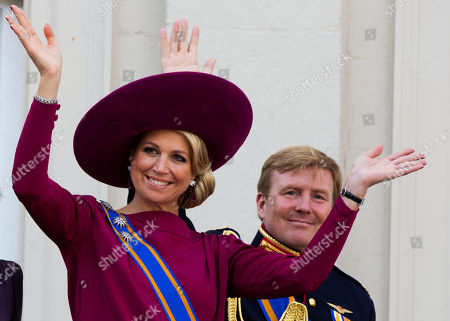 Princess Maxima, Crown Prince Willem Alexander Princess Maxima, left, and Crown Prince Willem Alexander, wave to well wishers from the balcony of Royal Palace Noordeinde in The Hague, Netherlands. Prince Willem-Alexander's ascension to the Dutch throne in April 2013 promises to be a shining moment on the world stage for his wife Maxima and her home country of Argentina. But there will be a glaring absence at the ceremony. Queen Beatrix's announcement this week that she'll step aside and let her son become king raised new questions about the future queen's father, Jorge Zorreguieta, one of the longest-serving civilian ministers in Argentina's 1976-1983 military dictatorship