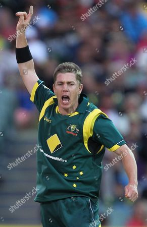 Xavier Doherty Australia's Xavier Doherty unsuccessfully appeals for a wicket against Sri Lanka during their One Day International cricket match at the in Adelaide, Australia