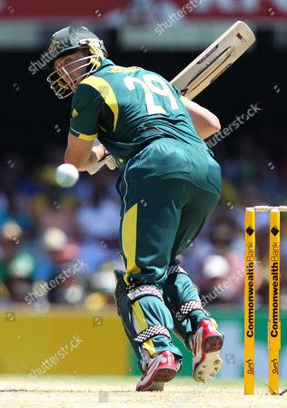 David Hussey Australia's David Hussey plays a shot during the One Day International cricket match against Sri Lanka in Brisbane, Australia