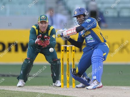 Tillakaratne Dilshan Sri Lanka's Tillakaratne Dilshan, right, plays a shot off the bowling of Australia's Xavier Doherty during their One Day International cricket match at the Melbourne Cricket Ground in Melbourne, Australia