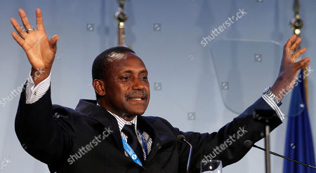 Kandeh Yumkella Head of the United Nations Industrial Development Organization, UNIDO, Kandeh Yumkella delivers a speech during Arnold Schwarzeneggers R20 initiative conference in Vienna, Austria, . The project is intended to focus on the role of states, regions, cities and provinces in working to achieve U.N. and European Union environmental goals