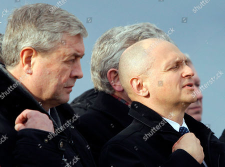 Vladimir Semashko, Sergei Kiriyenko Russian Atomic Energy Chief Sergei Kiriyenko, right, and Belarusian Deputy Prime Minister Vladimir Semashko cross themselves at the ceremony marking the start of construction works at unit No. 2 of Belarus' first nuclear power plant near the town of Ostrovets, 180 km (113 miles) northwest of Minsk, Belarus, . Russia's state-owned atomic energy company built Belarus' first nuclear power plant, worth around $10 billion
