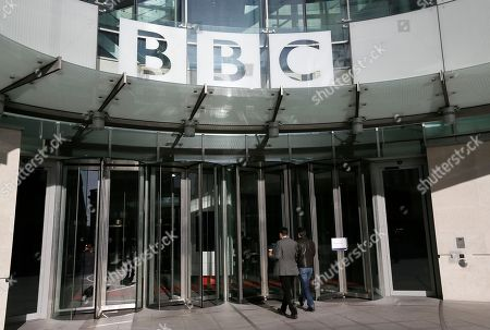 Stock Image of A general view of the BBC headquarters in London, Sunday, Nov, 11, 2012. The head of the BBC's governing body said Sunday the broadcaster needs a radical overhaul following the resignation of its chief executive in wake of a scandal over a botched report on child sex-abuse allegations. Chris Patten vowed to restore confidence and trust in the BBC, which is reeling from the resignation of George Entwistle and the scandals prompting his ouster. Entwistle resigned Saturday night amid a storm of controversy after a news program wrongly implicated a British politician in a child sex-abuse scandal, deepening a crisis sparked by revelations it decided not to air similar allegations against one of its own stars