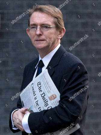 The editor of the London Daily Telegraph newspaper Tony Gallagher arrives for a meeting of fellow newspaper editors and the British Prime Minister David Cameron following the release of the Leveson media inquiry, at Downing Street in London,. Cameron has warned newspaper editors they must act quickly to set up an independent press regulator in the wake of a media ethics scandal