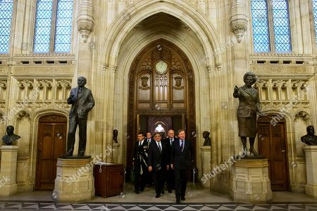 Leon Panetta, Andrew Robathan Andrew Robathan, Minister of State for the Armed Forces of the United Kingdom, front right, leads U.S. Defense Secretary Leon Panetta, at left, on a tour of the Houses of Parliament in London on