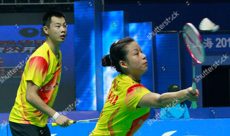 Xu Chen, Ma Jin China's Xu Chen, left, and Ma Jin, right, play against Malaysia's Chan Peng Soon and Goh Liu Ying during the mixed doubles final match of the China Open World Superseries Premier badminton competition in Shanghai, China on