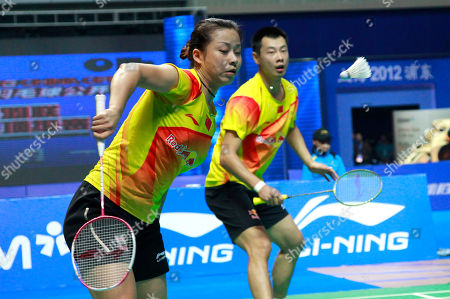 Xu Chen, Ma Jin China's Xu Chen, right, and Ma Jin, left, play against Malaysia's Chan Peng Soon and Goh Liu Ying during their mixed doubles final match of the China Open World Superseries Premier badminton competition in Shanghai, China on