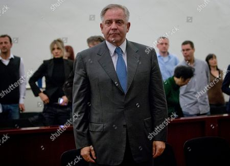Ivo Sanader Former Croatian prime minister Ivo Sanader stands in the courtroom in Zagreb, Croatia, . A court has found former Croatian Prime Minister Ivo Sanader guilty on corruption charges and has sentenced him to 10 years in prison. The 59-year-old, who served as prime minister from 2004 to 2009, is the highest ranking former official tried for graft in Croatia which has pledged to root out corruption as it becomes a European Union member in 2013