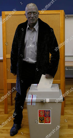 Vladimir Franz Presidential candidate Vladimir Franz casts his vote for presidential elections at a polling station in Prague, Czech Republic