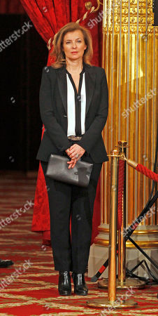 Alain Goldman French President Francois Hollande' companion Valerie Trierweiler attends an awarding ceremony at the Elysee Palace in Paris