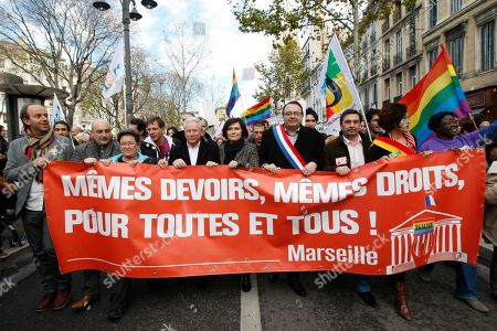 Editorial image of France Gay Marriage, Marseille, France