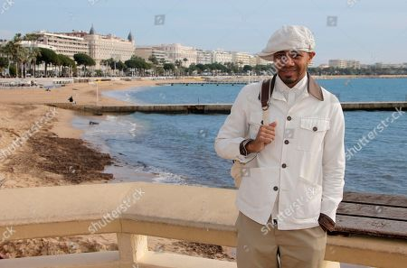 American electronic and experimental hip hop musician DJ Spooky poses at the 47th MIDEM (International record music publishing and video music market) in Cannes, southern France
