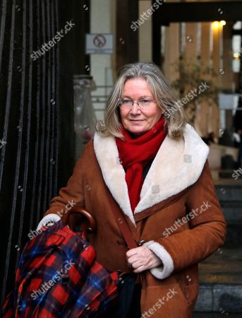 Danielle Gonnin, the former wife of Dieter Krombach and mother of Kalinka Bamberski, who died aged 15 in 1982 leaves the Creteil courthouse on the last day of Krombach's appeal, outside Paris, . A French court hears the appeal of an elderly German doctor, convicted in the 1982 death of his 15-year-old stepdaughter after a decades-long cross-border battle for justice by the girl's father