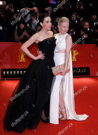 Arta Dobroshi, Laura Birn Actresses Arta Dobroshi left, and Laura Birn arrive for the screening of the film Before Midnight to receive the special award Shooting Star at the 63rd edition of the Berlinale, International Film Festival in Berlin, Germany