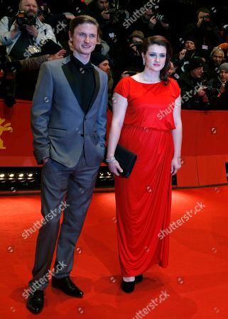 Mikkel Boe Folsgaard, Nermina Lukac Actress Nermina Lukac, right, and actor Mikkel Boe Folsgaard arrive for the screening of the film Before Midnight to receive the special award Shooting Star at the 63rd edition of the Berlinale, International Film Festival in Berlin, Germany