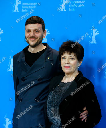 Stock Image of Actors Bogdan Dumitrache and Luminita Gheorghiu pose during the photo call for the film Child's Pose at the 63rd edition of the Berlinale, International Film Festival in Berlin