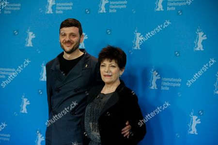 Stock Photo of From left actors Bogdan Dumitrache and Luminita Gheorghiu pose during the photo call for the film Child's Pose at the 63rd edition of the Berlinale, International Film Festival in Berlin