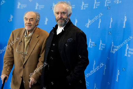 Director and producer George Sluizer and actor Jonathan Pryce pose at the photo call for the film Dark Blood at the 63rd edition of the Berlinale, International Film Festival in Berlin