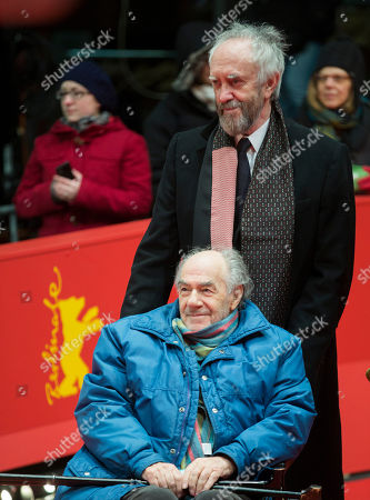 Actor Johnathan Pryce and director George Sluizer, foreground, arrive for the screening of the film Dark Blood at the 63rd edition of the Berlinale, International Film Festival in Berlin