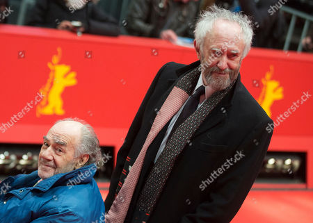 Actor Johnathan Pryce, right, and director George Sluizer arrive for the screening of the film Dark Blood at the 63rd edition of the Berlinale, International Film Festival in Berlin