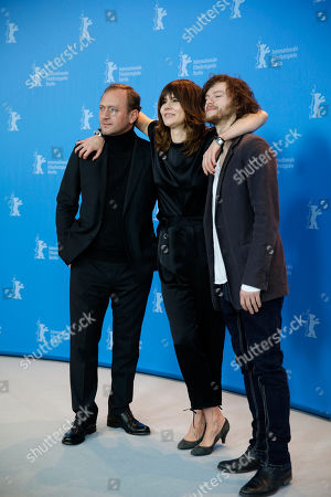 Actor Andrzej Chyra, director Malgoska Szumowska and Mateusz Kosciukiewicz pose at the photo call for the film In The Name Of at the 63rd edition of the Berlinale, International Film Festival in Berlin, Friday, Feb.8,2013